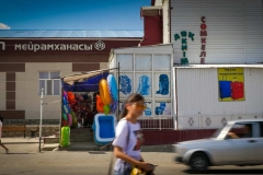 Town bazaar in Aral, Kazakhstan