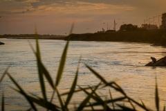 Sunset on the Syr-Darya river in Kyzyolrda