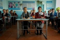 Students attend an 8th grade Civics class at School No. 2